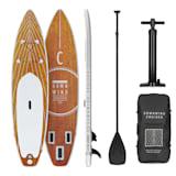 Downwind Cruiser 10.8 aufblasbares Paddelboard SUP-Board-Set | Set: Board + Paddel + Leash + Rucksack + Pumpe | Cruiser Shape | Teleskop-Paddel | 330 x 77 x 15 cm | Board-Material: PVC mit DoubleLayer & DropStitch Technology | 55l Rucksack | Reparaturset