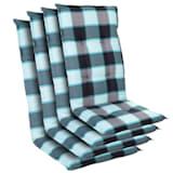 Cojín Prato funda de sillón de jardín de respaldo alto poliéster 50x120x7cm