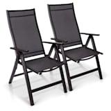 London, kerti szék, 2 darabos szett, textilén, alumínium, 6 pozíció, összecsukható