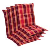 Cojín Prato funda de sillón de jardín de respaldo bajo poliéster 50x100x8cm