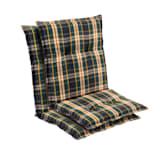 Prato stoelkussen zitkussen lage rug tuinstoel polyester 50x100x8cm