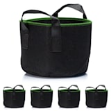 Plant bag set 5-piece 40 litres fleece with handle