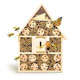 Hôtel à insectes avec suspension de toit en pente, habitable toute l'année bois