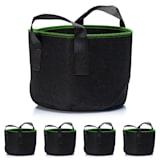 Plant bag set 5-piece 10 litres fleece with handle