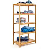 Shelf multi-purpose 5 shelves 60x117.5x35cm (WxHxD) bamboo