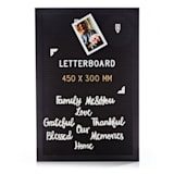 Letter board 30 x 45 cm letters & symbols and smileys hanging device