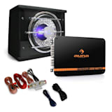 Auna Black Line 100 Set car HiFi 0.1 1400W effetti luce led