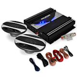 'Black Line 220' Car Stereo System Amplifier + Speakers 1400W