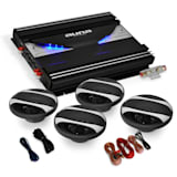 4.0 'Black Line' Car Stereo System - Amplifier Speaker Set 2800W