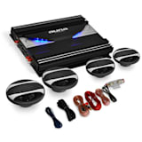4.0 Car Audio HiFi System 'Black Line 120' Amplifier, Speaker Set