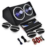 4.1 Car Audio HiFi System 'Black Line 500' Amplifier, Speaker Set