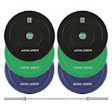 Nipton Mens Set II Olympic Bar Gewichte 3 Paar 5, 10 & 20 kg