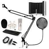 CM001S set de micrófono V5 micrófono condensador adaptador USB brazo de micrófono protección anti pop escudo