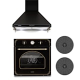 Klarstein Victoria Set Built-in Oven Extractor Hood Recirculation Set Black