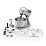 Curve Plus, kuchynský robot, sada, 5 l, 4-in-1, mlynček na mäso, strieborný