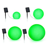 Blumfeldt Shinestone Solar Ball Light Set 4 Pieces Solar Panel RGB-LED IP68