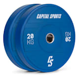 Sports Nipton 2021 Bumper Plate Gewichtsplatte | 2 x 20 kg |  Stahlinnenring | 50,4 mm Aufnahmeöffnung | Hartgummi