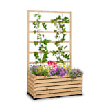 Modu Grow 100 Hochbeet & Spalier Set | 100 x 151 x 50 cm (BxHxT) | Pflanzschale | Blumenkasten | Blumenkübel | inklusive Spalier / Rankhilfe | solides und haltbares Kiefernholz | Noppenfolie | einfacher Zusammenbau