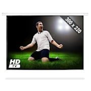 Roll-up Home Cinema Projector Screen HDTV 300x220cm 4:3