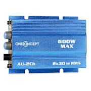 Mini Car Hi-Fi Amplifier 300W Blue