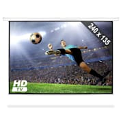 Roll-up Home Cinema Projector Screen HDTV 240x135cm