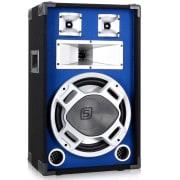 178.503, PA reproduktor, 30 cm, modrý, LED světelný efekt 600W