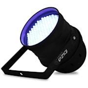 Černý světelný LED reflektor Ibiza LBL 64 LED, DMX, PAR64