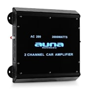 W2-AC200 2-Channel Car Amplifier with LED Lights 2000W 2.0