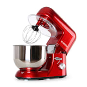 Bella Rossa Küchenmaschine, 1200W 1,6 PS, 5 Liter rot Rot