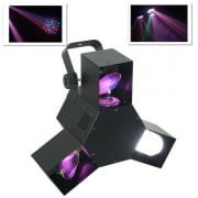 LED trojni skener LED disko svetlobni učinek DMX