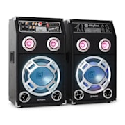 SPSW-10 aktives PA-Boxen Set USB-SD-MP3 Lichteffekt 800 Watt