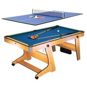 FP-6TT, összecsukható biliárdasztal, ping-pong asztallappal