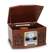 NR-620 Retro Record Player Turntable CD/MP3 Player Wood Mahogany