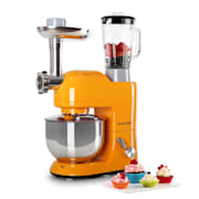 Lucia Orangina Stand Mixer Meat Mincer 1200W 5L Orange