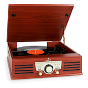 TT-92B Turntable Record Player Built- in Speakers USB SD AUX Wooden Finish Cherrywood
