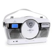 RCD-70, radio retro, FM, USB, CD, baterie, kolor biały Biały