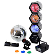 Disco Fever Mega LED Party Set Discokugel Strobo Lichtorgel