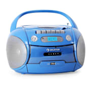 Boomboy Radiocassette CD USB MP3 azul