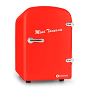 Bella Taverna Minilodówka i miniogrzewacz 4L czerwona Czerwony
