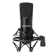 CM001B štúdiový mikrofón čierny, kondenzátorový Čierna