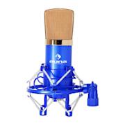 CM001BG studiomicrofoon blauw/goud condensator zanginst Blauw