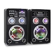 "Skytec KA-08 Karaoke PA Speakers Set 600W USB SD 20 cm (8"")"