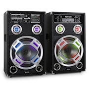 "Skytec KA-12 Active PA Speaker System Built-in Karaoke Lighting USB SD AUX 30 cm (12"")"
