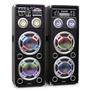 "Skytec KA-28 8"" Active Karaoke PA Speakers USB SD AUX"