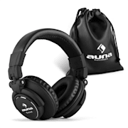Base DJ Headphones Closed Foldable - Black Black