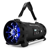 Soundstorm Ghettoblaster Bluetooth NFC USB AUX batterij Karaoke LED-licht
