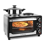 Omnichef 23HB Mini Oven with Hot Plates 1500W 23L Black Black