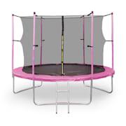 Rocket Start XXL trambulină 305cm incl. Siguranța aluminiu net scara copertă roz Roz | 305 cm