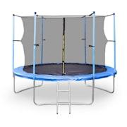 Rocketboy XXL trampoline 305cm veiligheidsnet aluminium ladder regensche Blauw | 305 cm