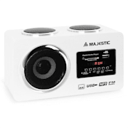 AH 173 Kompaktradio Multimedia Audiosystem USB SD AUX weiß